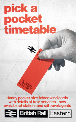 'Pick a Pocket Timetable', poster, 1970.
