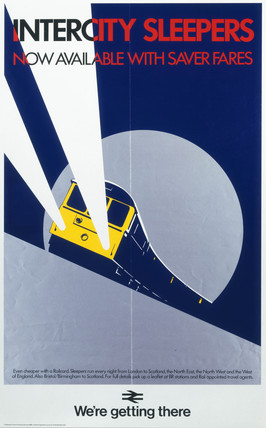 'Intercity Sleepers - Now Available with Saver Fares', BR(CAS) poster, 1985.