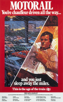 'Motorail - You're Chauffer Driven All the Way..', BR poster, 1982.