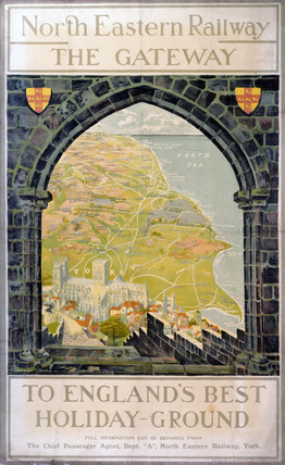 'The Gateway - To England's Best Holiday-Ground', NER poster, c 1905.