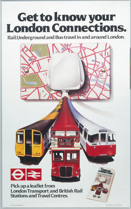 Get to Know your London Connections', BR poster, 1982.
