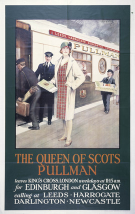 'The Queen of Scots Pullman', Pullman Company poster, 1923-1947.