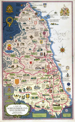 Map of Northumberland and Durham, BR (NER) poster, 1949.