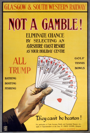 'Not a Gamble!', GSWR poster, 1910.