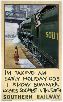 'I'm Taking an Early Holiday', SR poster, 1936.