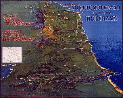 'Northumberland for the Holidays', NER poster, 1920.