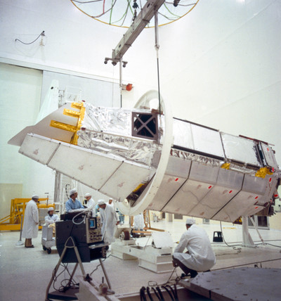 High Energy Astronomy Observatory (HEAO 2) satellite, 1977.