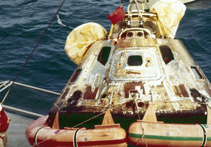 Apollo 11 Command Module, recovery, 1969.