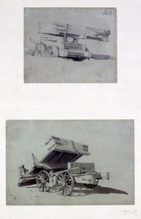 Two examples of Contractor's tipping wagons, 1830s.
