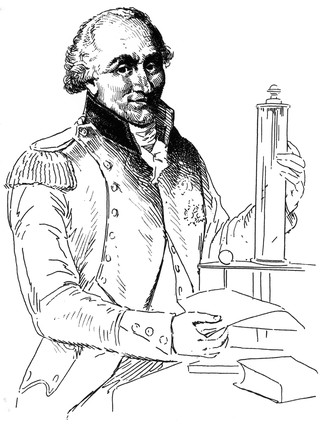 Charles Augustin de Coulomb, French physicist, c 1780.