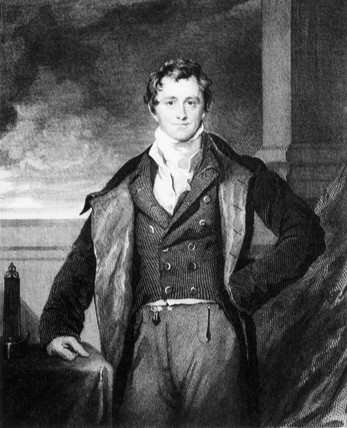 Sir Humphry Davy, English chemist, c 1820.