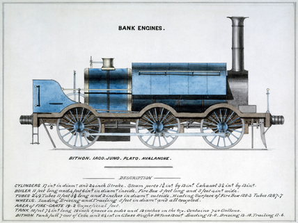 'Bank Engines', steam locomotive, 1857.