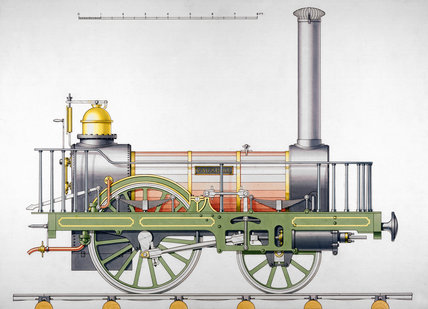 'Vauxhall' steam locomotive, 1834.