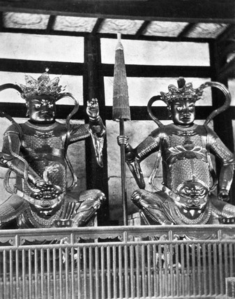 Guardians of Buddha, China, 1864-1872.