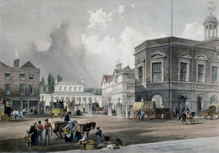 View of the proposed station at Maidstone, Kent., 1836.