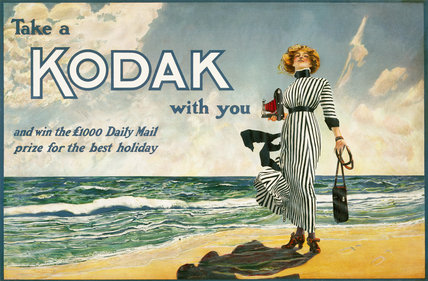 'Take a Kodak with you', advertisement for Kodak cameras, British, c 1910.