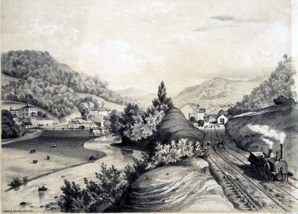 Hebden Bridge Station, West Yorkshire, 1845.