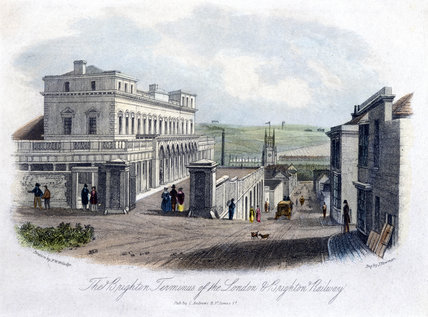 The Brighton Terminus of the London & Brighton Railway, c 1845.