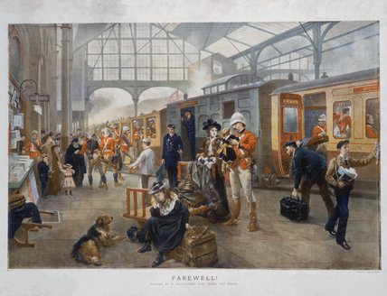 'Farewell!', Waterloo Station, London, 1897.