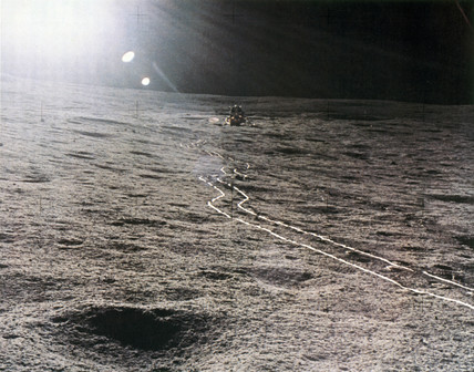 Apollo 14 Lunar Module on the Moon, 1971.