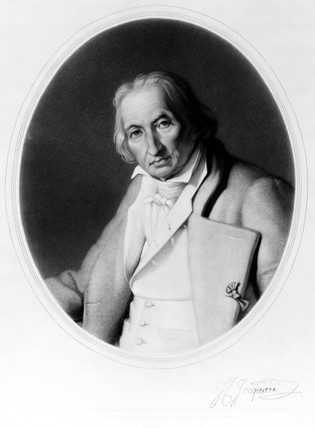 Joseph Marie Jacquard, French inventor of the Jacquard loom, c 1840.