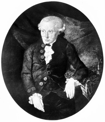 Immanuel Kant, German philosopher, late 18th century.