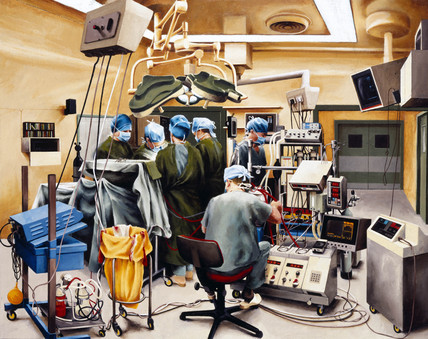 Heart operation in progres, 1991.
