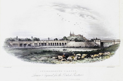 Peterborough Viaduct, c 1840s.