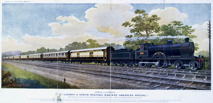 The American Special boat train, early 20th century.