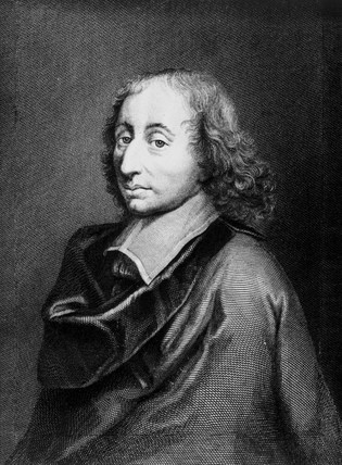 Blaise Pascal, French mathematician, physicist and philosopher, c 1650.