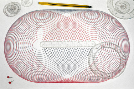 Drawing made with a Spirograph, 1975.