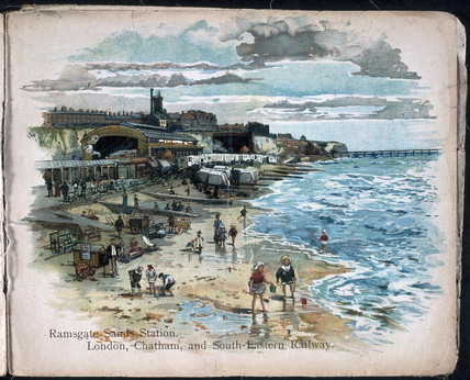 'Ramsgate Sands Station. London, Chatham an