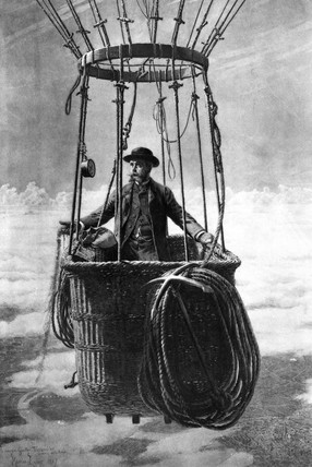 Gaston Tisandier, French aviation pioneer, late 19th century.