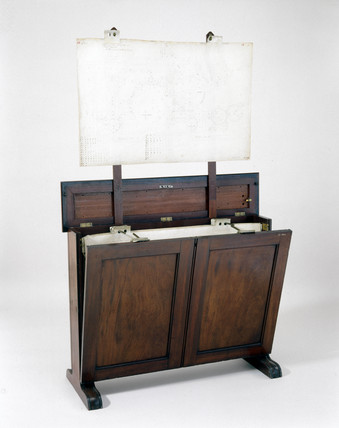 Drawings cabinet once owned by Charles Babbage, 19th century.
