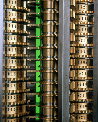 The figure wheels of Babbage's Difference Engine No 2, 1991.