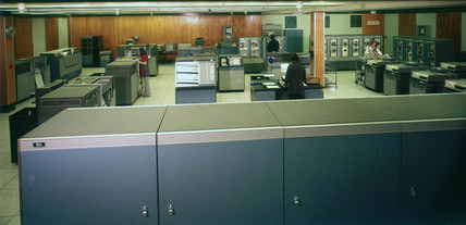 An ICL 1906 computer at ICL Stevenage, Hertfordshire, 1974.