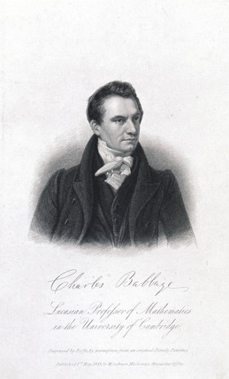 Charles Babbage, pioneer of machine computing, 1833.