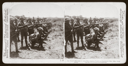 'Col Porter's Men ready to meet Boer Cavalry Charge', South Africa, 1899.