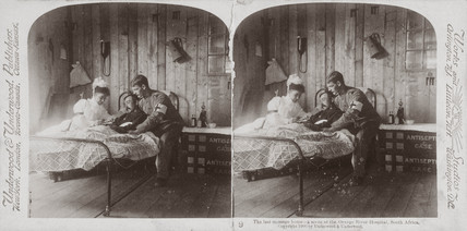 'The last mesage home, Orange River Hospital, South Africa', 1900.