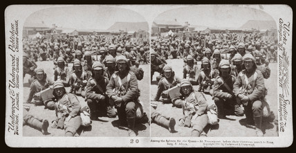 'Among the fighters for the Queen, Naauwpoort, South Africa', 1900.
