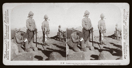 'Yorkshire signaling from New Zealand Hill to Rensburg, South Africa, 1900.