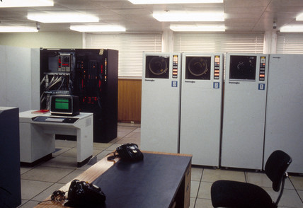 Mainframe computer at Lloyds Bank Computer Institute, mid 1970s. at ...