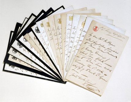 Letters to Charles Babbage from the Duches of Somerset, mid 19th century.