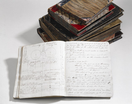 Notebooks of Charles Babbage, English computing pioneer, 1830s.