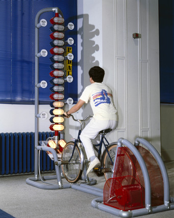 Pedal cycle interactive, Science Museum, London, 1992.