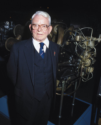 Sir Frank Whittle, English engineer, 1988.