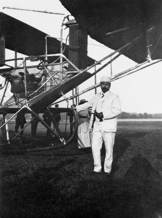 Samuel Franklin Cody, British aviator, before his fatal accident, 1913.