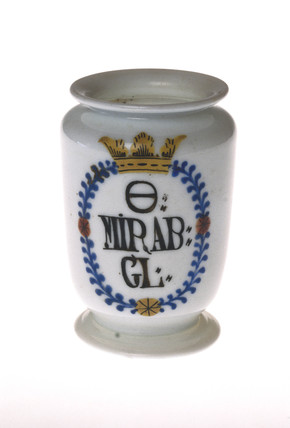 Drug jar, 18th century.