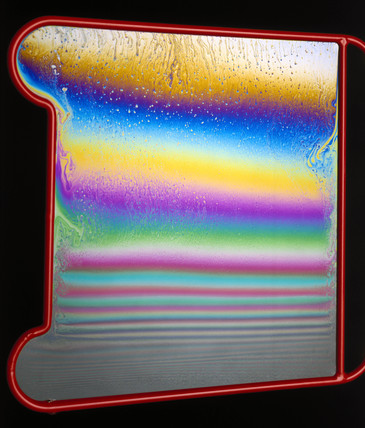Thin-film interference pattern shown by bubble film, 1980-2000.