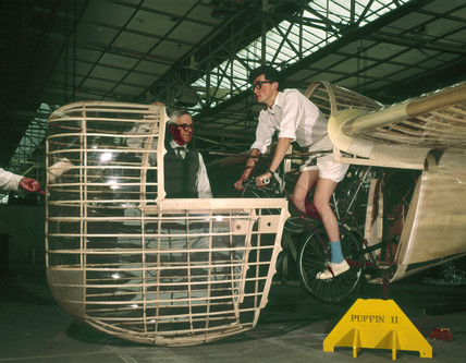 Man powered aircraft, 'Puffin II', c 1965.